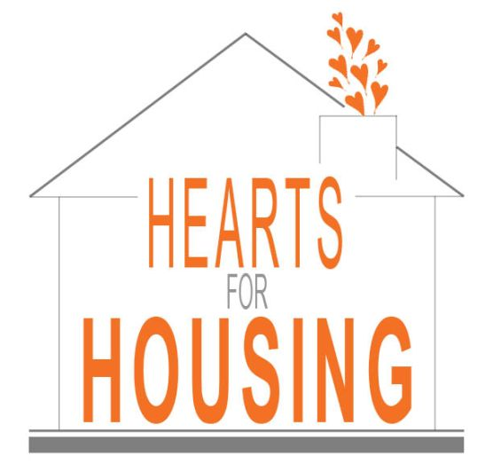 hearts for housing graphic